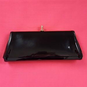 Vintage Black Patent Leather Clutch Purse